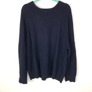 Old Navy V neck Lamb wool Blend Blue Sweater 2XL
